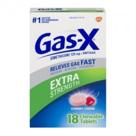 Gas-X Extra Strength cereza Creme tabletas masticables Antigas 18 ct