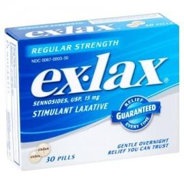 ex-lax Regular Strength Relief laxante estimulante 30 píldoras