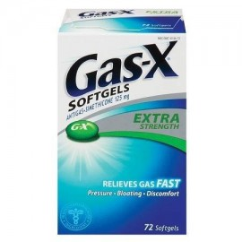 Gas-X Extra Strength Antigas Softgel 72 ea (paquete de 1)