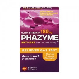 Phazyme Ultra Fuerte 180mg antigases geles suaves - 12 CT