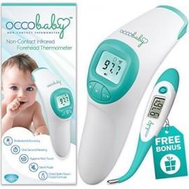 OCCObaby Frente Clínica termómetro para bebés - 2017 Edition con punta flexible impermeable Termómetro digital para bebés y