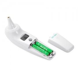 Bluetooth oído electrónico y termómetro de la frente Médica infrarrojo adulto del bebé