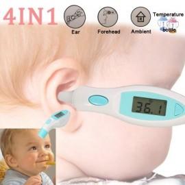Digital de infrarrojos IR termómetro del cuerpo para el bebé Kid adulto frente del oído de la temperatura el color azul
