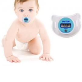 Monitores Cuidado de su bebé práctica cabrito del bebé del LCD Digital chupete de la boca la temperatura del termómetro para
