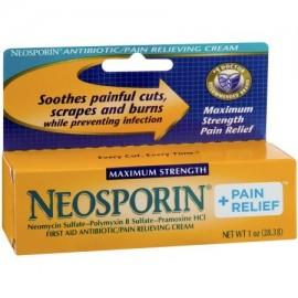 Neosporin alivio del dolor de antibiótico - alivio del dolor Cream 1 OZ (paquete de 6)