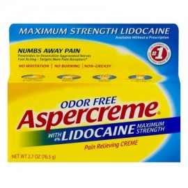 Aspercreme con lidocaína Maximum Strength aliviar el dolor Creme 2.7 OZ