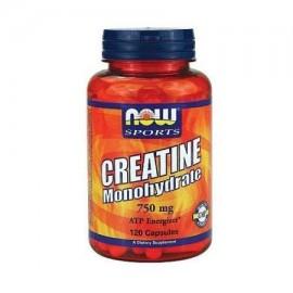 NOW Deportes monohidrato de creatina 750 mg cápsulas 120 ea
