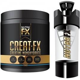 Monohidrato de creatina en polvo con alta tecnología-Botella de la coctelera - No estimulante Culturismo Energía y el crecimie
