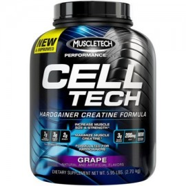 MuscleTech Performance Series CellTech Hardgainer creatina Fórmula Suplemento Grape dietética Powder 5.95 libras