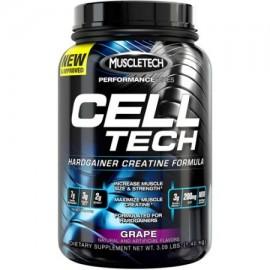MuscleTech serie Performance Cell Tech Hardgainer creatina fórmula en polvo uva Suplemento dietético 309 libras